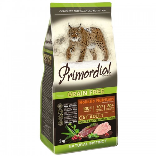 PRIMORDIAL CAT ADULT DUCK E TURKEY 6 kg