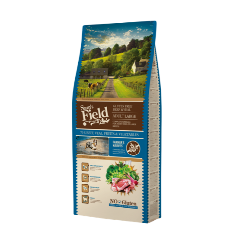 Sam's Field Gluten Free Adult Large Beef E Veal 13 Kg