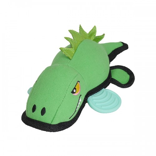 JOLLY DOGGY TOUGH CANVAS CROCODILE WITH RUBBER FEET 27CM