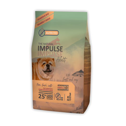 The Natural Impulse Dog  Adult Salmon
