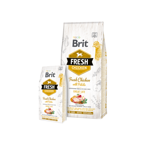Brit Fresh Adult Medium Chicken with Potato Adult Great Life