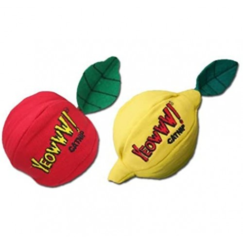 Yeowww! Catnip Apple and Lemon Cat Toys