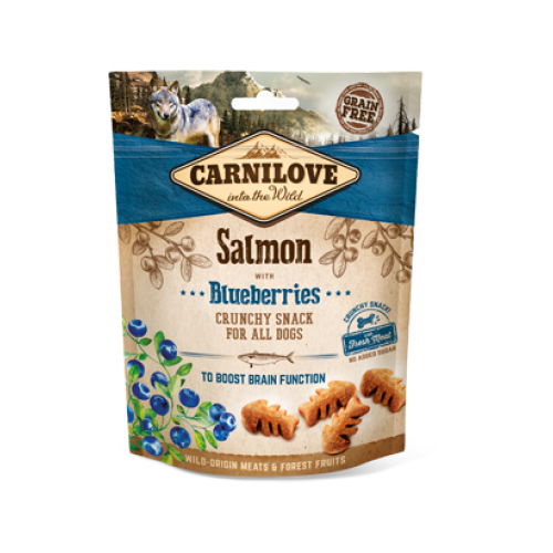 Carnilove Dog Snack Crunchy Snack Salmon with Blueberries 200 gr