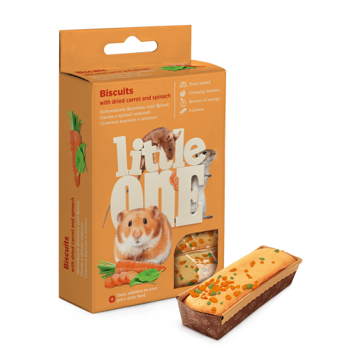 Little One Biscuits with dried carrot and spinach for small animals
