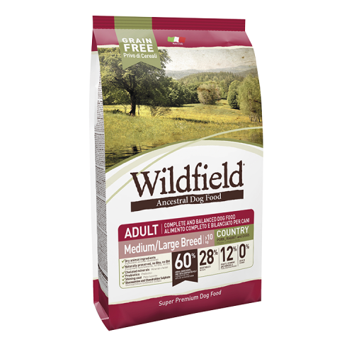 WILDFIELD  GRAIN FREE ADULT COUNTRY PORK, RABBIT AND EGGS