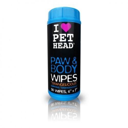 PET HEAD Paw E Body Wipes (50pcs)