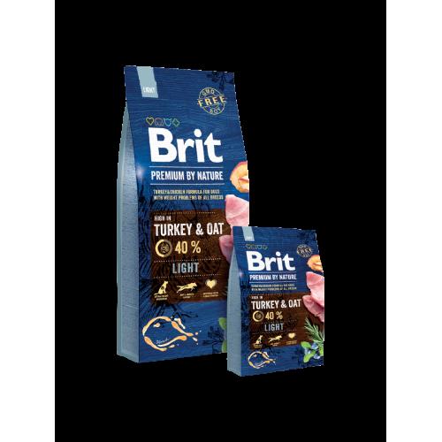 Brit Blue Nature Dog Light Turkey e Oat