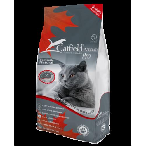 Catfield Premium Cat Litter Platinum Areia Aglomerada