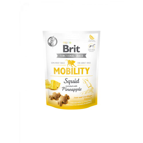 Brit Care Dog Functional Snack Mobility Squid 150 gr