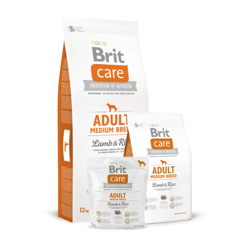 Brit Care Dog Adult Medium Breed Lamb E Rice