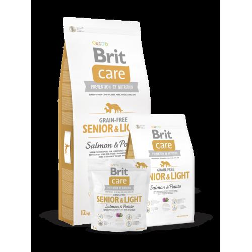 Brit Care Dog Grain-free Senior E Light Salmon e Potato