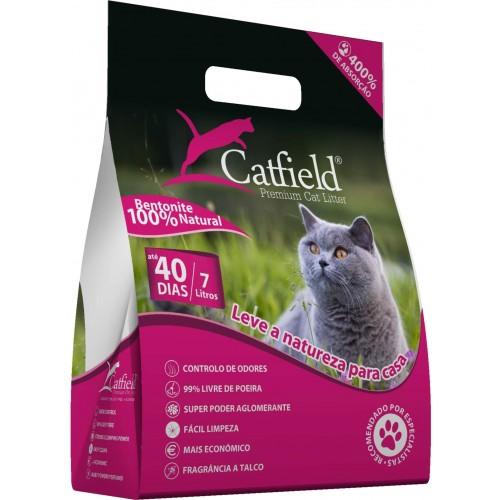 Catfield Premium Cat Litter Lavanda Areia Aglomerada